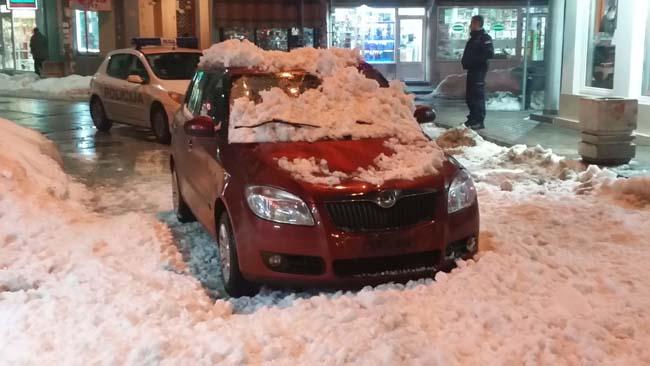 sneg, zgrada