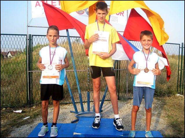 Ivica Prelić 2 mesto i Aleksandar Grujić 3 mesto u trci na 300 m za ml. pionire