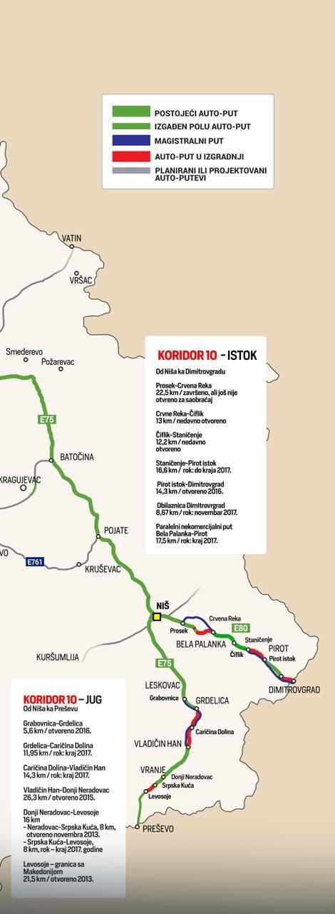 Detaljna Mapa Srpskih Autoputeva Ozonpress Internet Portal
